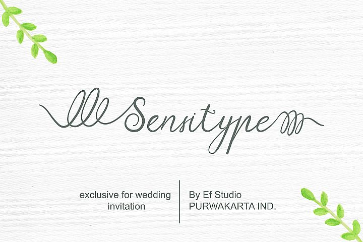 Sensitype - Wedding Font