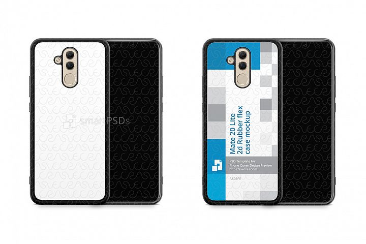 Huawei Mate 20 Lite 2d RubberFlex Mobile Case Design Mockup