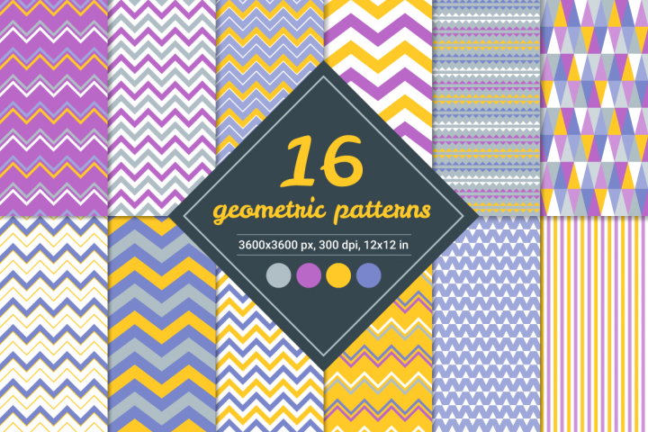 16 Vector Seamless Patterns - Set 1