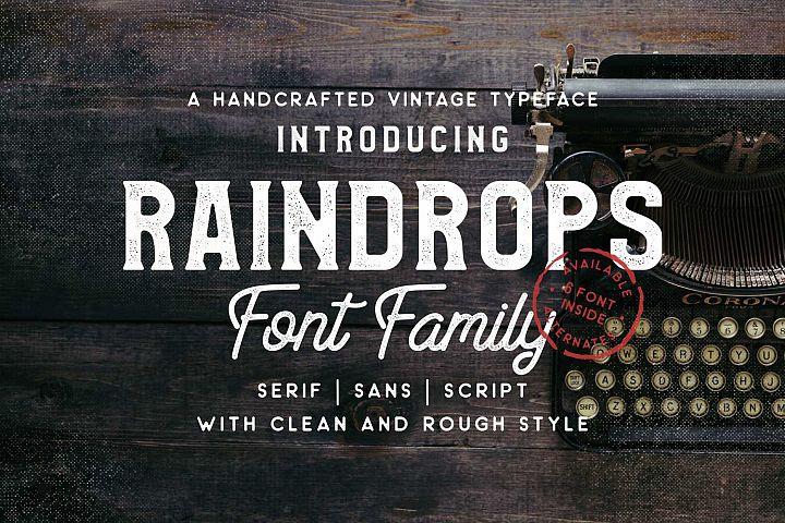 Raindrops Font Family