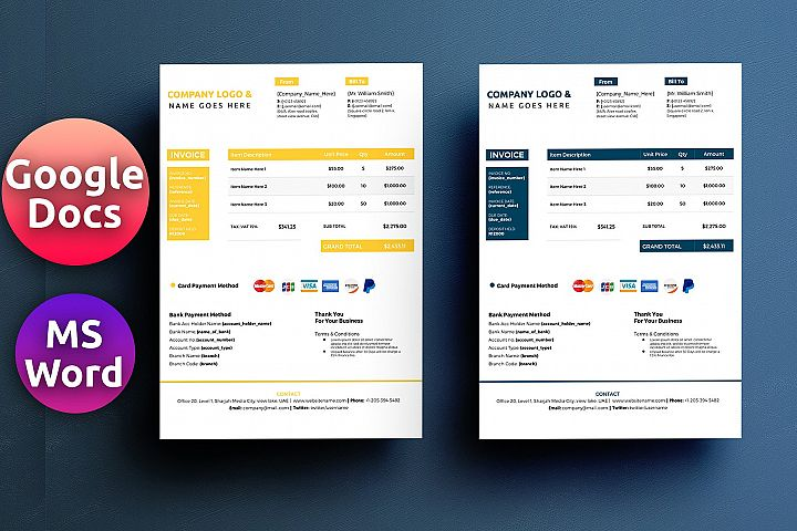 Word Google Docs Invoice Template