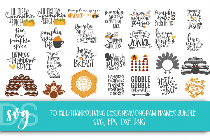 Fall, Pumpkin, Halloween, SVG, PNG, Thanksgiving Bundle,