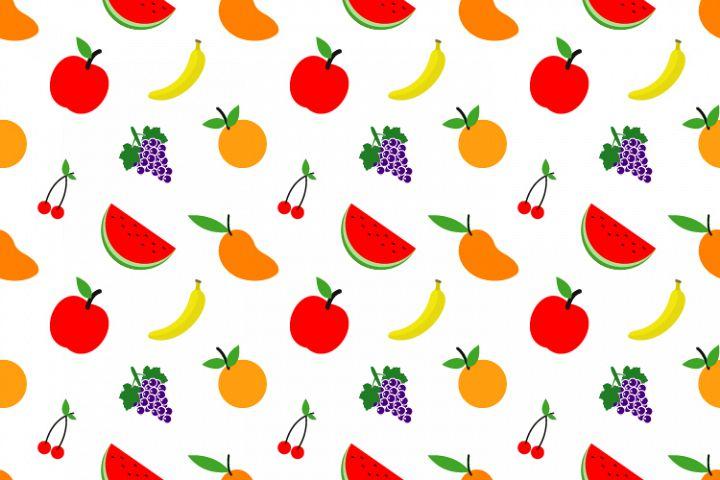 seamless pattern of fruits