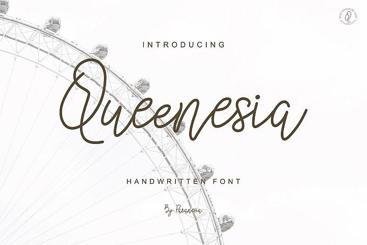 Queenesia Script Font