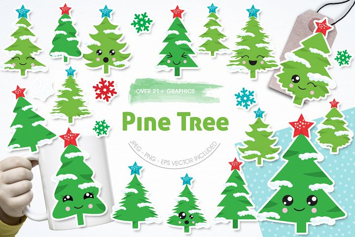 Christmas Tree graphics and illustrations