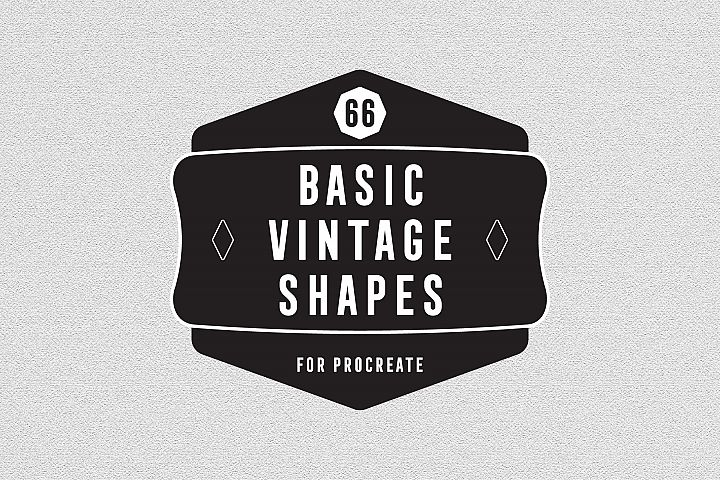 66 Basic Vintage Shape for Procreate