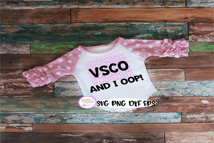 VSCO Girl SVG PNG EPS DXF