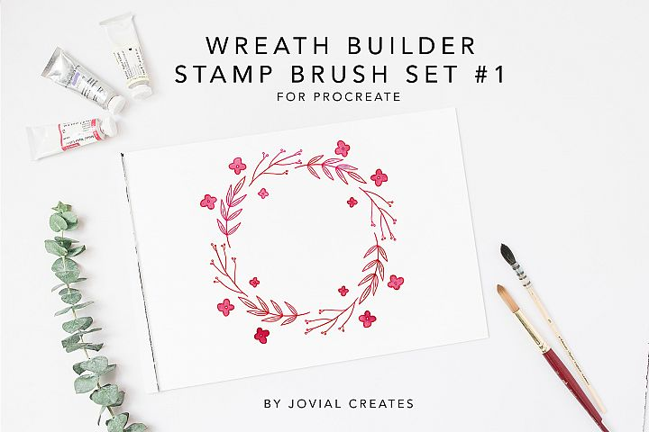 Wreath Builder Stamp Brush Set #1 for Procreate