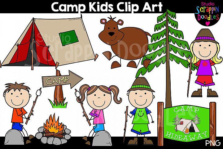 Camp Kids Clip Art