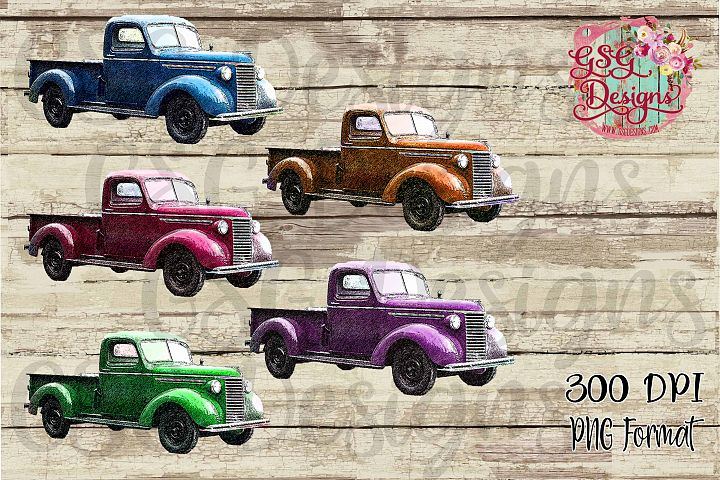 Vintage Antique Truck Graphics Set