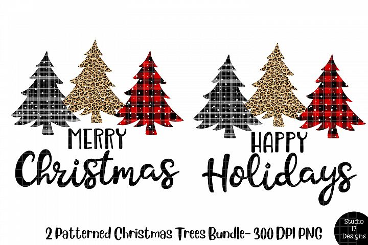 Plaid Christmas Trees For Sublimation