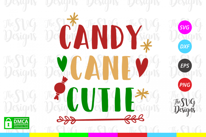 Candy Cane Cutie Svg - Christmas- Svg Files