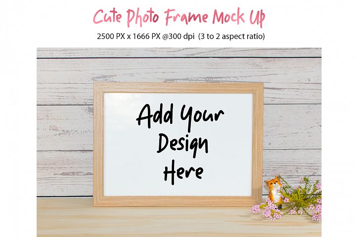 Cute Photo Frame Mock Up jpg