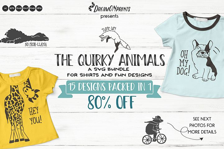 The Quirky Animals | Funny SVG Bundle