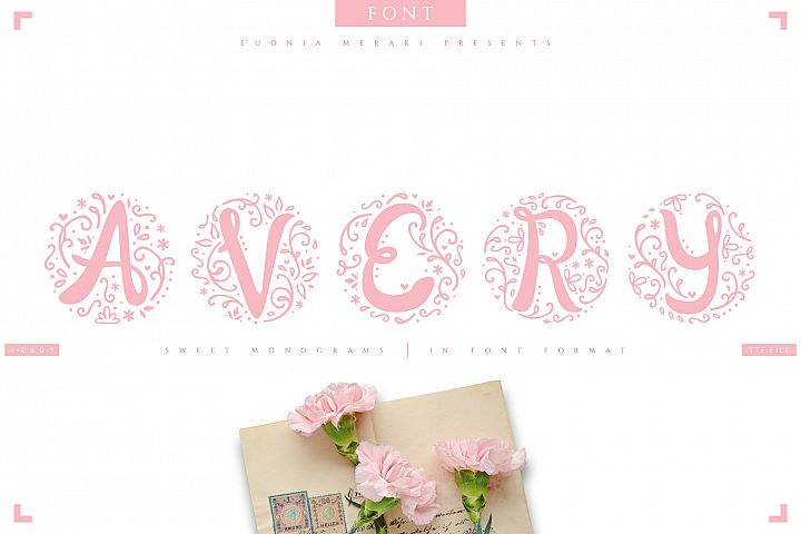 AVERY - sweet monograms font