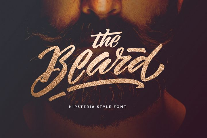 The Beard Hipster Font