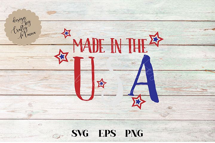 Made In The USA Baby, 4th Of July SVG