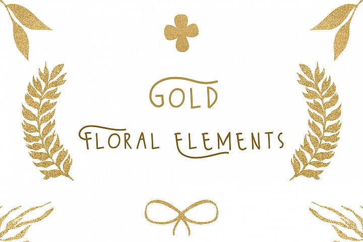 Gold floral elements by shoko design