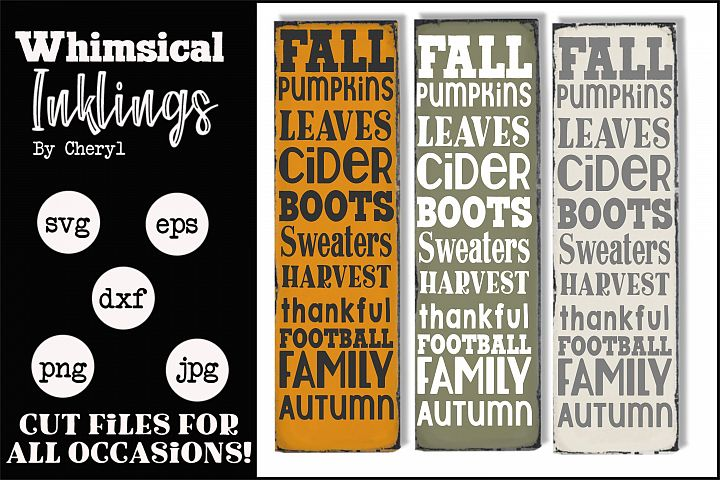 Vertical Fall Collage SVG