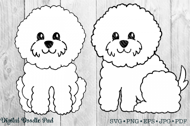 Cute Bichon Set by Digital Doodle Pad