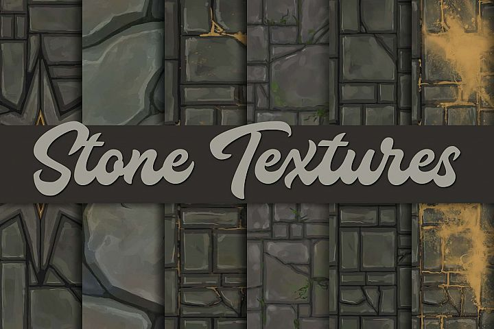 Hand-painted stone textures |Tileable