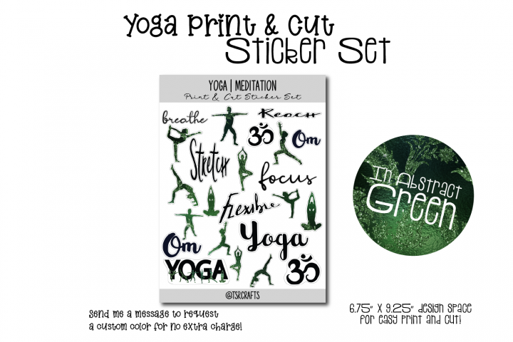 YOGA MEDITATION - Functional Planner Stickers-Abstract Green