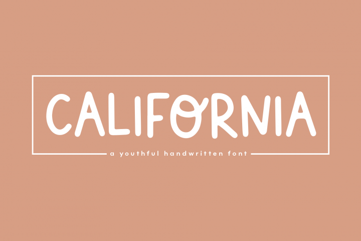 California - A Handwritten Font