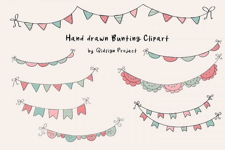 Hand Drawn Bunting Clipart