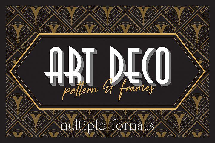 Art Deco Elegant Pattern & Frames