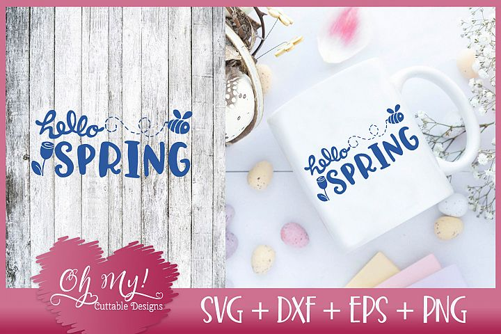 Hello Spring - SVG EPS DXF Cutting File