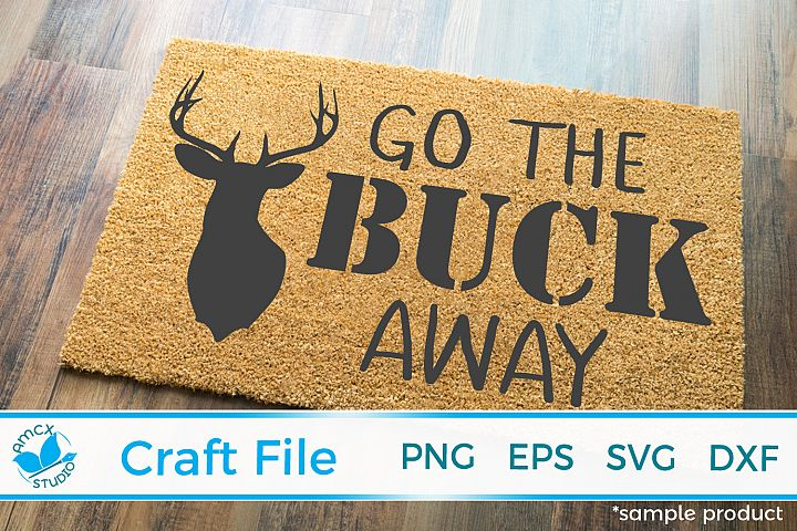 Deer Head Front Doormat SVG