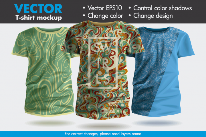 Vector T-shirt Mock-up Mockup Template Pattern