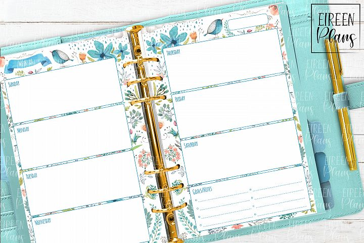 Weeky Printable for 5.5x8.5 planners
