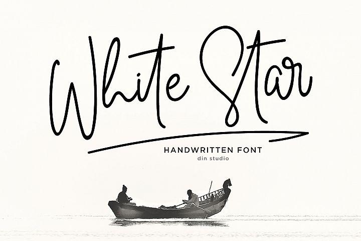 White Star- Chic Handwritten font