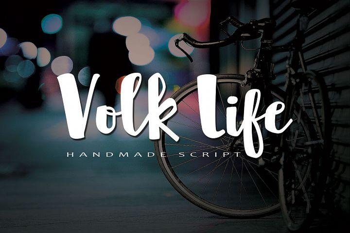 Volk Life Typeface
