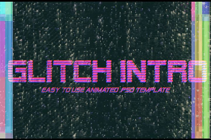 Glitch Intro - Animated Text Effect