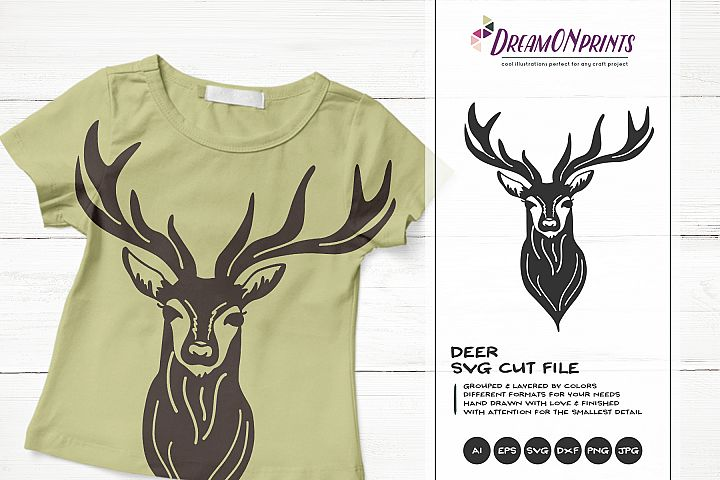 Deer SVG Cut Files | Reindeer SVG Silhouette