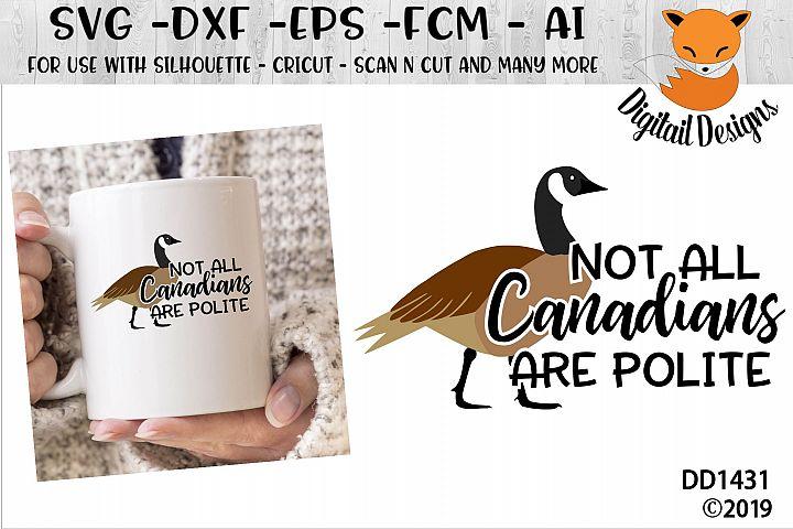 Funny Canada Goose SVG