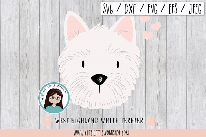 West Highland White Terrier svg, dxf, png, eps
