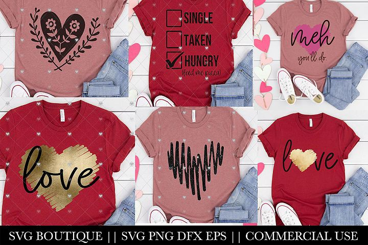 Valentine SVG Bundle - Hearts and Sayings SVGS For Shirts