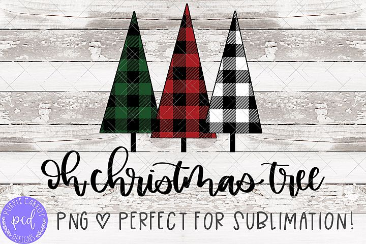 Oh Christmas Tree Hand-Lettered Sublimation File