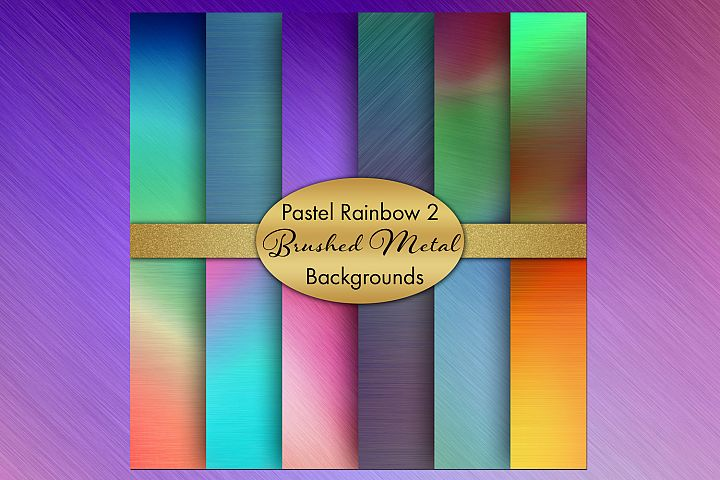 Pastel Rainbow 2 - Brushed Metal Style Backgrounds