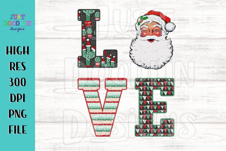 Santa LOVE PNG file