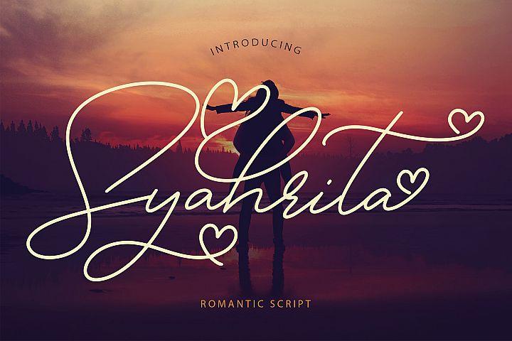 Syahrita Beautiful Romantic Font