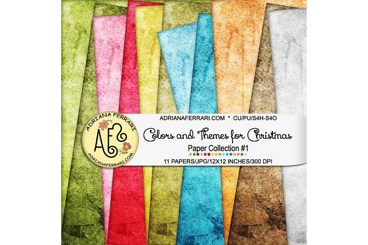 Colors and Themes for Christmas Papers 1