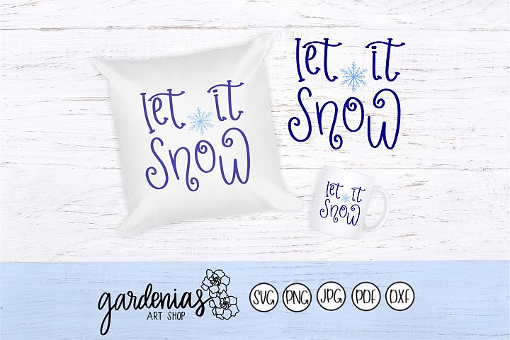 Let it Snow Twirly Font