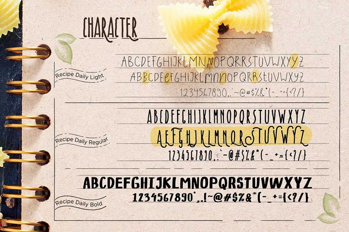Recipe Daily - Free Font of The Week Design0