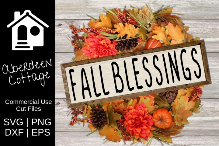 Fall Blessings Seasonal SVG Design