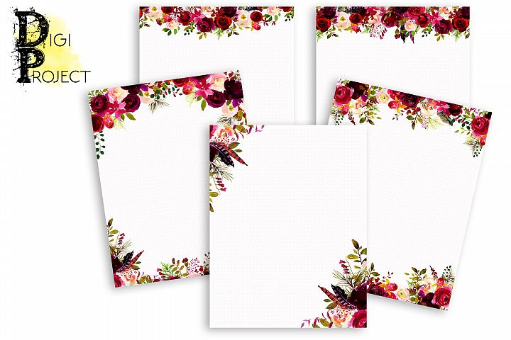 Printable Notes Pages Marsala, Notes Pages