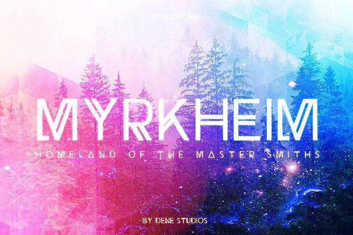 Myrkheim - A Norse Inspired Typeface